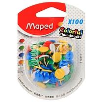 马培德 Maped 彩色图钉 AA310110 100枚/盒