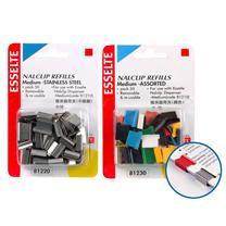 易达 Esselte 推夹器用补充夹 81230 (彩色) 50个/盒
