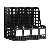 得力 deli 四联文件框 9834 (黑色) 12个/包