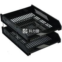 远生 Usign 二层叠式文件盘 US-10421 (黑色) 24个/箱