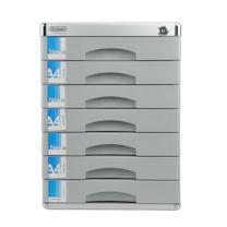 金隆兴 铝合金七层带锁文件柜 C9978 (银色)