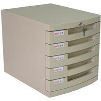 远生 Usign 五层带锁文件柜 US-25K (灰色)