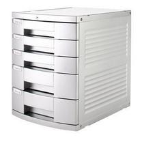 树德 Shuter 五层带锁银系文件柜 N2005Y