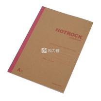 何如 HOTROCK 牛皮纸面 无线装订本 N1041 A5 (混色) 40页/本 12本/封 (颜色随机)