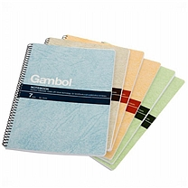 渡边 Gambol 螺旋装订笔记本 S5807 A5 (混色) 80页/本 6本/封 (颜色随机)