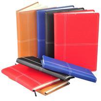 晨光 M&G 雅致办公皮革胶套本 APY4J361 A5 (黑色、红色、蓝色、黄色) 120页/本 (颜色随机)