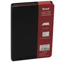 前通 fornt 商务 软面皮本 D66-A601 A6 (黑棕色、实际肉眼为黑棕色) 146页/本