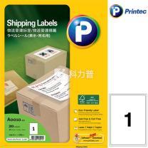 普林泰科 printec 物流管理打印标签 A0010-20 1分 199.6*289mm  20页/包