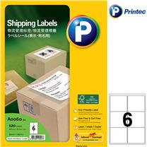 普林泰科 printec 物流管理打印标签 A0060-20 6分 99.1*93.1mm  20页/包