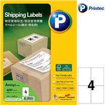 普林泰科 printec 物流管理打印标签 A0041-100 4分 105*148.5mm  100页/包