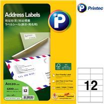 普林泰科 printec 地址打印标签 12分 105*48mm A0120-100  100张/包
