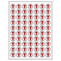 卓联 自粘性标签 圆点 ZL00 70枚*12 直径10mm (红色) 12张/包 (红色箭头)