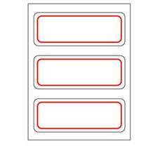 卓联 自粘性标签 ZL13 3枚*12 34*73mm (红色) 12张/包