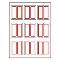卓联 自粘性标签 ZL22 9枚*12 25*30mm (红色) 12张/包 (二等分)