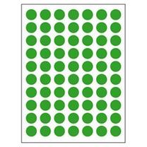 卓联 自粘性标签 圆点 ZL30 70枚*12 直径10mm (绿色) 12张/包