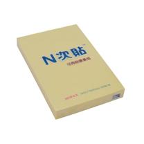 N次贴 Stick 'N 可再贴自粘便条纸 31001 76*51mm (黄色) 100页/本 12本/包