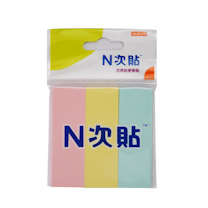 N次贴 Stick 'N 三色组合便条纸 32003 76*25mm (粉彩混色) 50页/条 3条/包