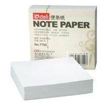 得力 deli 便签纸 7700 91*87mm (白色) 300张/包