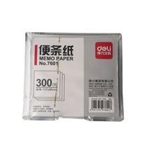 得力 deli 便签纸 7601 107*96mm (白色) 300张/盒 (附盒)