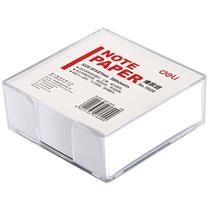得力 deli 便签纸 7600 91*87mm (白色) 300张/盒 (附盒)