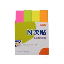 N次贴 Stick 'N 指示标签便条纸 34019 76*14mm*4 (荧光4色) 100页/条 4条/包