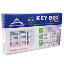 杰丽斯 钥匙箱 8703 48把 (绿蓝红各16个)