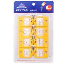 杰丽斯 钥匙牌 087 40*27mm (黄色) 8个/ 套