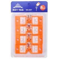 杰丽斯 钥匙牌 087 40*27mm (橙色) 8个/ 套
