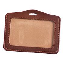 国产 横式皮制证件卡 100*70mm (棕色) 50个/包