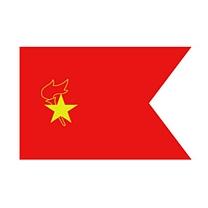 旗旺 中队旗 ZD-Q01 (红色) 含旗杆
