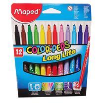 马培德 Maped 12色盒装水彩笔 845020CH