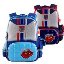 迪士尼书包 小学生1-3年级儿童汽车总动员男童卡通双肩背包 RB0051 (彩蓝) (DC)