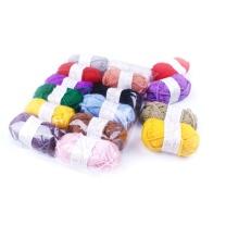 国产 彩色毛线 356A 儿童手工彩色毛线 毛线团