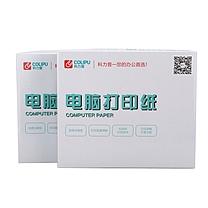 科力普 COLIPU 电脑打印纸 381-1 132列 无等分 1联 带压线 (白色) 1200页/箱 (银行链接)(10箱起订)