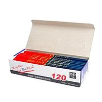 中华 Chung Hwa 红蓝铅笔 120 50支一盒 (红蓝)