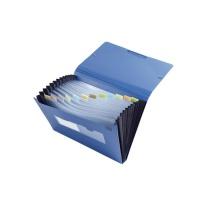 齐心 Comix 风琴包 F4302 A4 13格 (绿色、蓝色、黑) 8个/箱 (颜色随机)