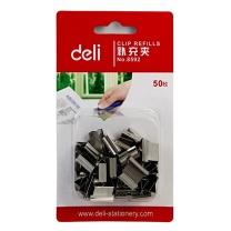 得力 deli 推夹器补充夹 8592 16卡/盒