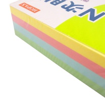 N次贴 Stick 'N 粉彩四色便条砖 33001 76*76mm (黄色、粉红色、蓝色、绿色) 200页/本