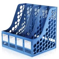 齐心 Comix 四格经济型文件架/资料架 B2174 (深蓝色、浅蓝色、灰色等) (颜色随机)