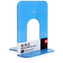 得力 deli 8.5英寸(高21cm)金属铁书立架 书籍挡靠架2片/付 蓝色 9270 130*60*150mm (蓝色)