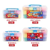 晨光 M&G 超级飞侠4D 24色超轻粘土 JKE03977  12套/盒 2盒/箱