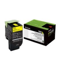 利盟 LEXMARK 碳粉盒 70C80Y0 (黄色)
