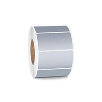 国产 哑银PET打印标签 60*40mm*1000pcs  (40卷起订)(小卷芯)DZ