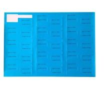 国产 彩色P型网线标签纸通信机房线缆纸 70mm*25mm*1000pcs (天蓝色) 50卷起订