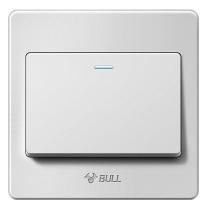 公牛 BULL 开关面板 G07K111Y 开关插座 G07系列 一开单控开关 86型面板G07K111Y 白色 暗装