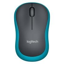 罗技 Logitech 无线鼠标 M185 (黑色蓝边)