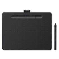 和冠 Wacom 数位板 CTL-6100wl Intuos 手写板 绘图板 手绘板 中号 绘画板 (黑色)