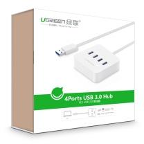 绿联 UGREEN USB3.0分线器 20290 0.5米  4口HUB集线器 台式机笔记本电脑一拖四