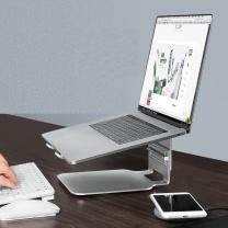 绿巨能 笔记本电脑托架 S2 笔记本支架 升降桌3档调节 便携折叠电脑支架 置物架 护颈椎笔记本电脑支架配件 不带转盘 三档调节