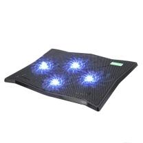 绿巨能 笔记本电脑托架 K4 笔记本散热器 游戏本散热器 笔记本支架 散热支架 四风扇LED发光可调节风速